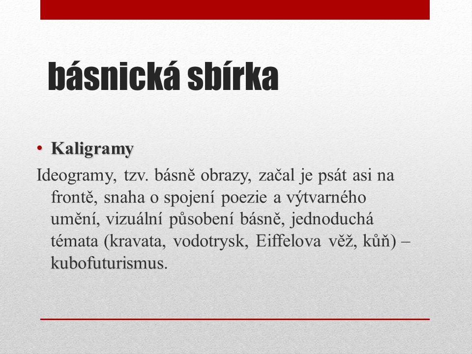 básnická sbírka Kaligramy