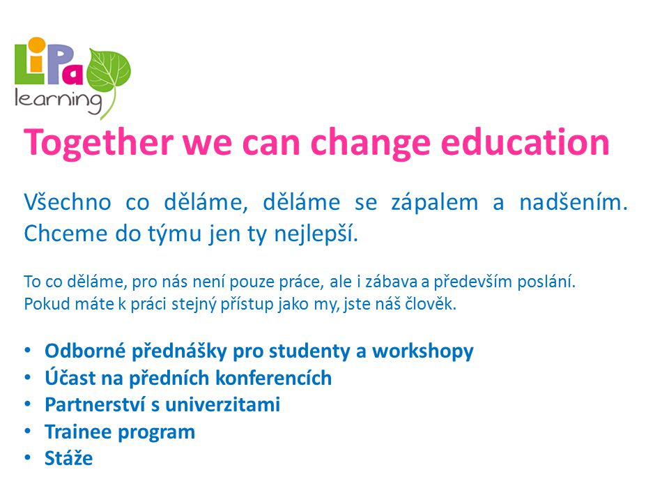 Together we can change education