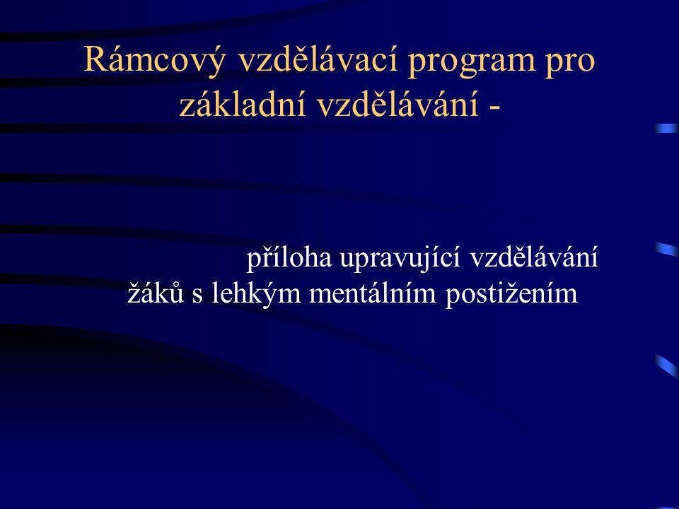 Rámcový vzdělávací program pro základní vzdělávání -