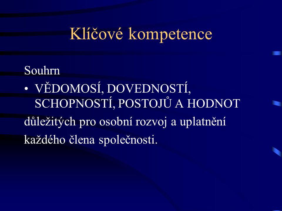 Klíčové kompetence Souhrn