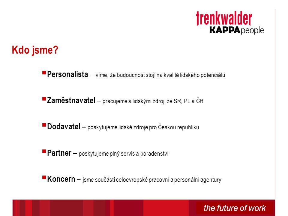 Kdo jsme Personalista – víme, že budoucnost stojí na kvalitě lidského potenciálu. Zaměstnavatel – pracujeme s lidskými zdroji ze SR, PL a ČR.