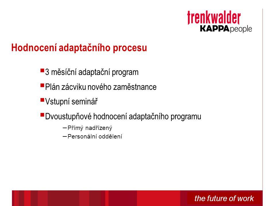 Hodnocení adaptačního procesu
