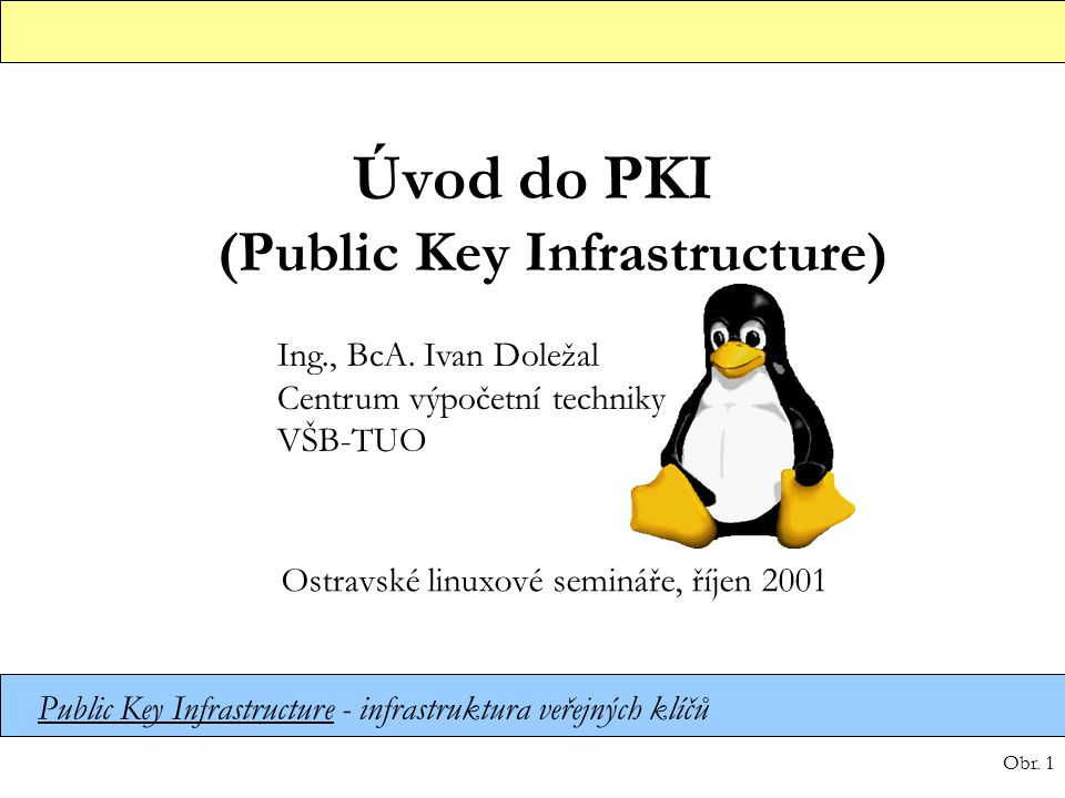 Úvod do PKI (Public Key Infrastructure)
