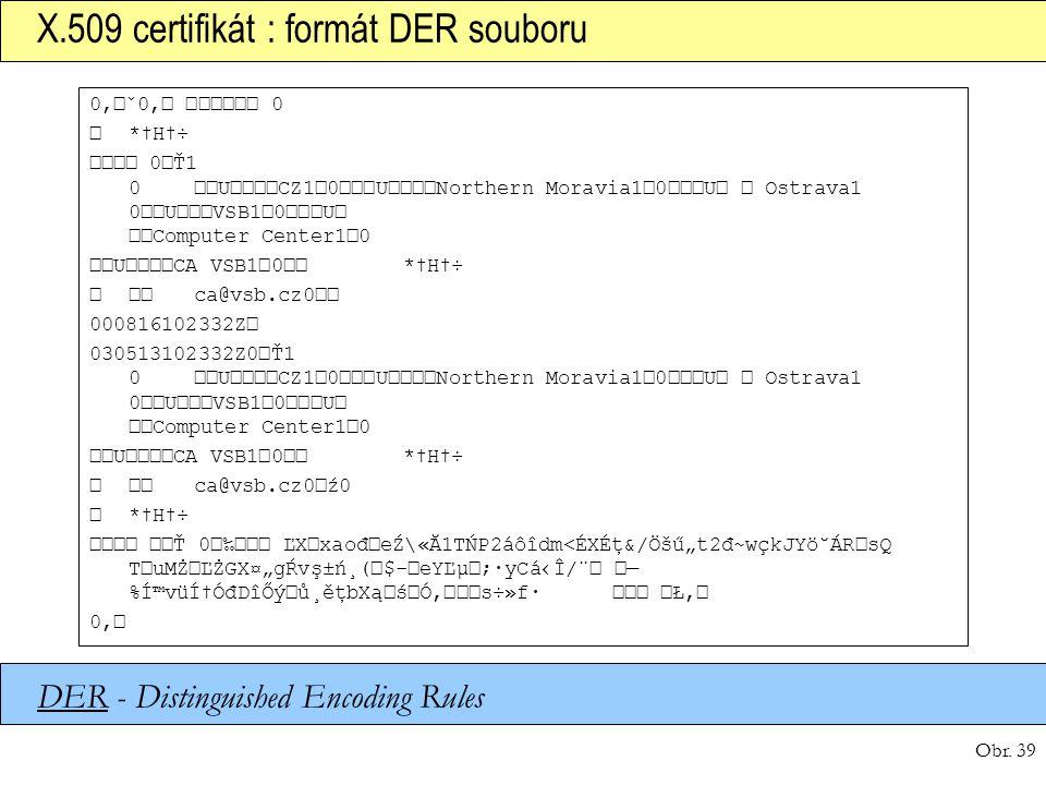 X.509 certifikát : formát DER souboru