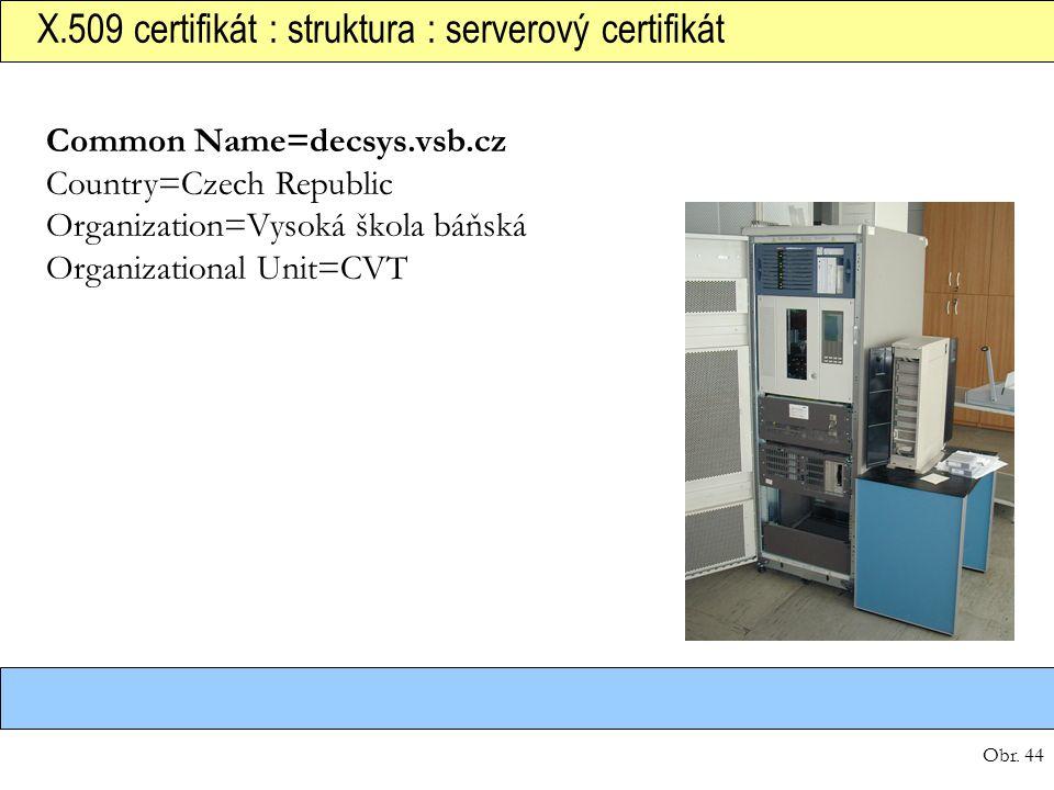 X.509 certifikát : struktura : serverový certifikát