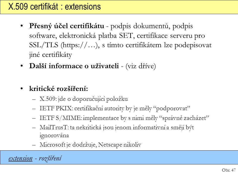 X.509 certifikát : extensions