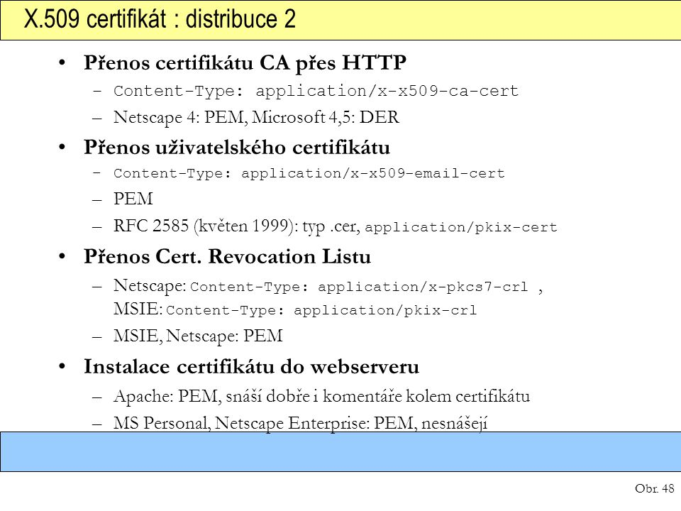 X.509 certifikát : distribuce 2