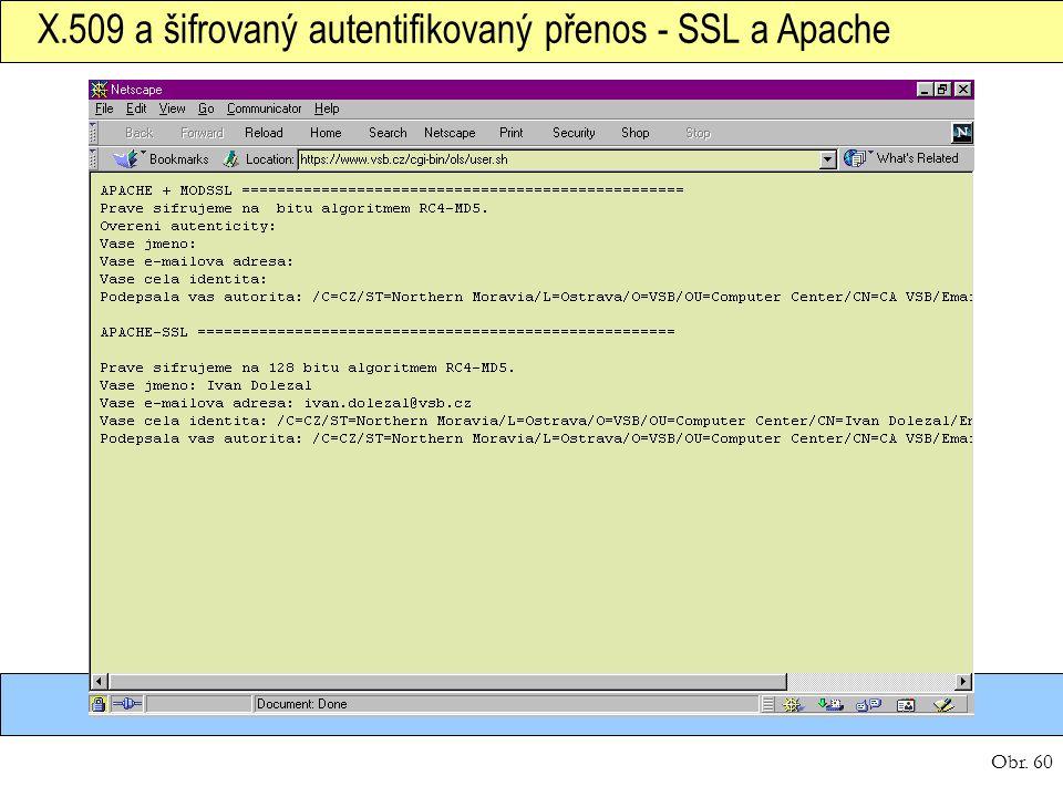 X.509 a šifrovaný autentifikovaný přenos - SSL a Apache