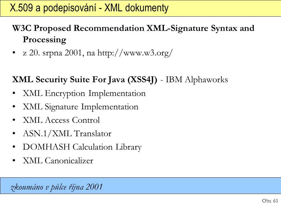 X.509 a podepisování - XML dokumenty