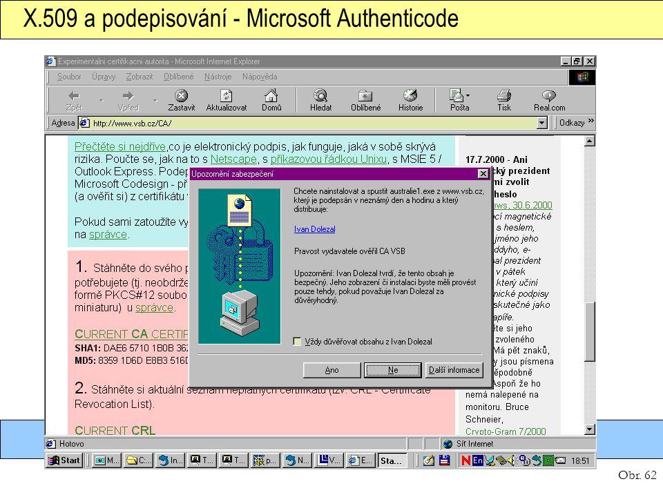 X.509 a podepisování - Microsoft Authenticode