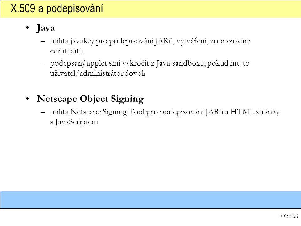 X.509 a podepisování Java Netscape Object Signing