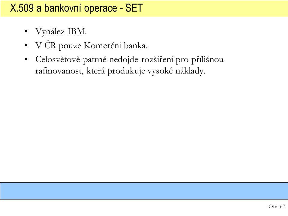 X.509 a bankovní operace - SET