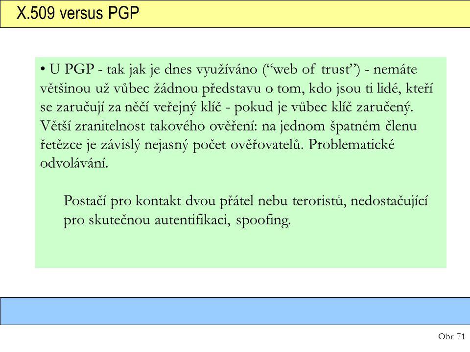 X.509 versus PGP
