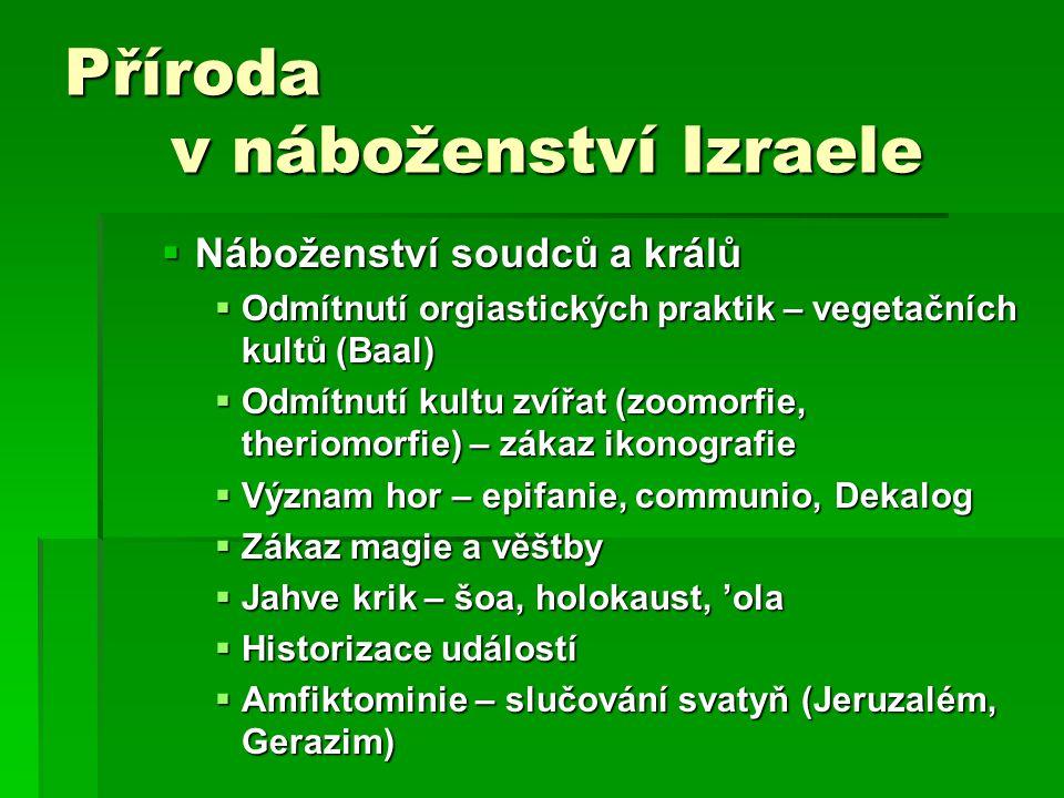 Příroda v náboženství Izraele