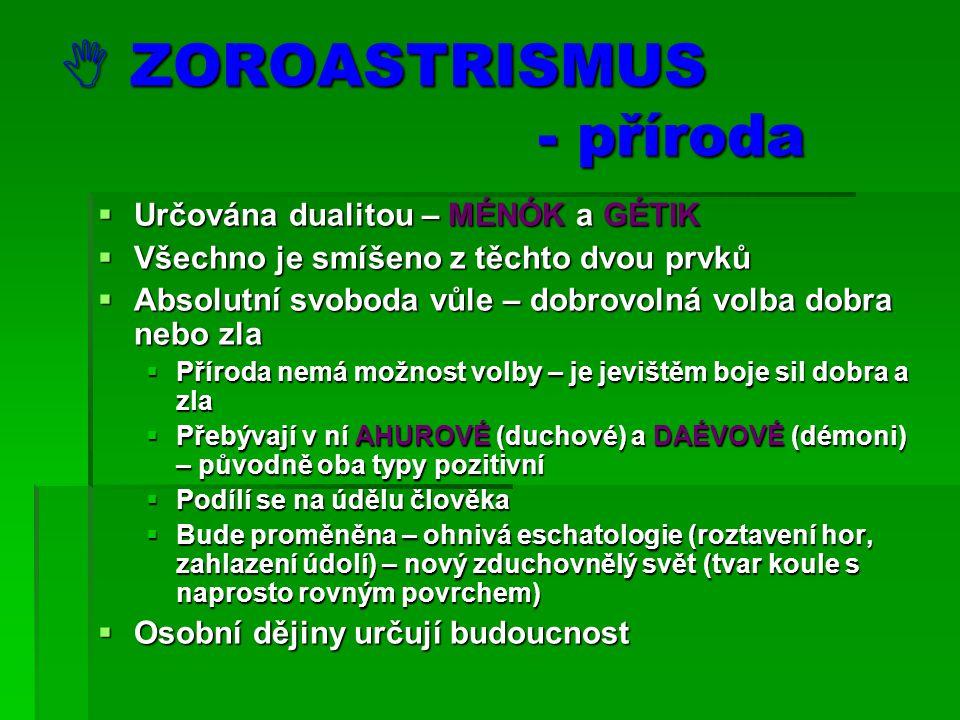  ZOROASTRISMUS - příroda
