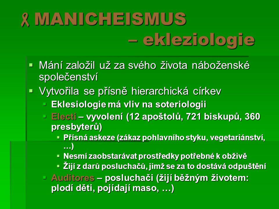 MANICHEISMUS – ekleziologie