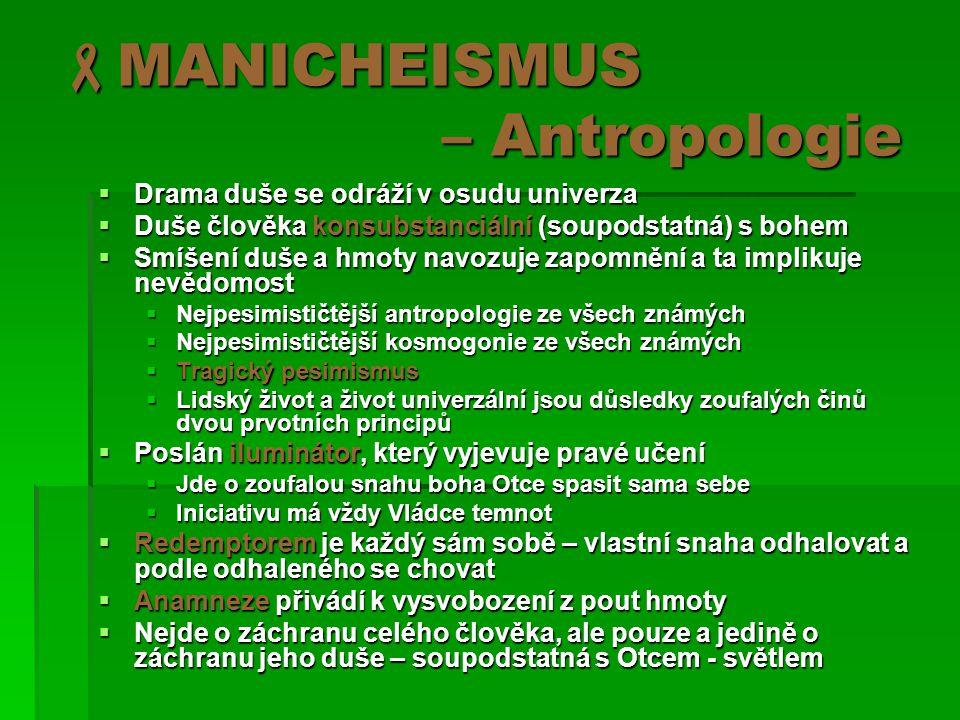 MANICHEISMUS – Antropologie