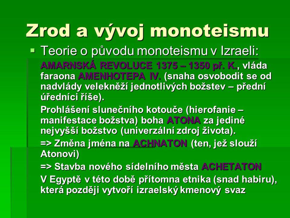 Zrod a vývoj monoteismu