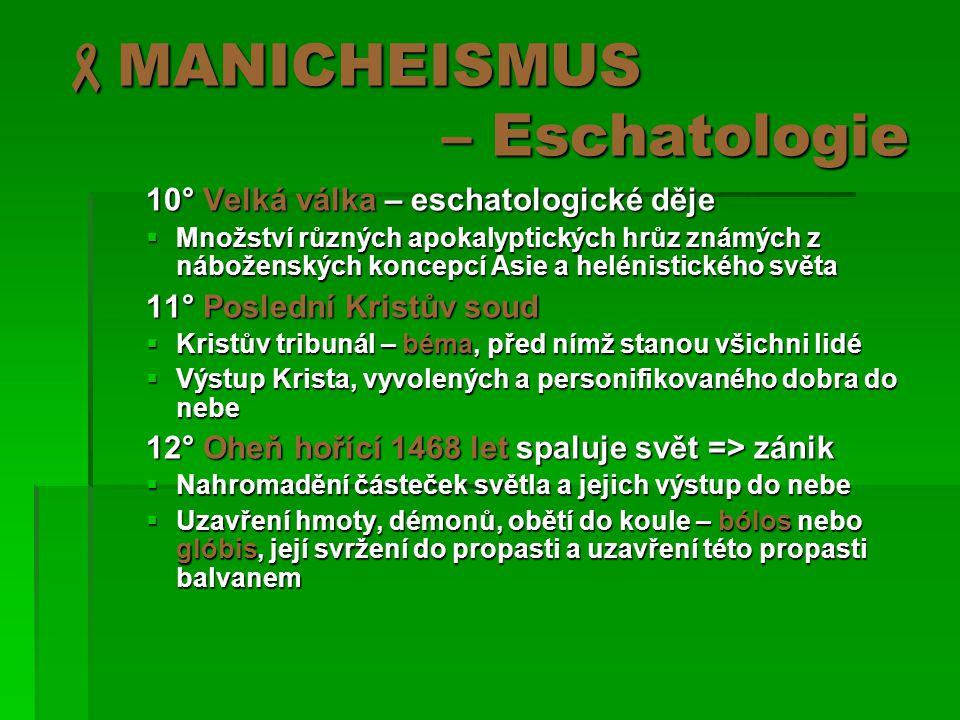 MANICHEISMUS – Eschatologie