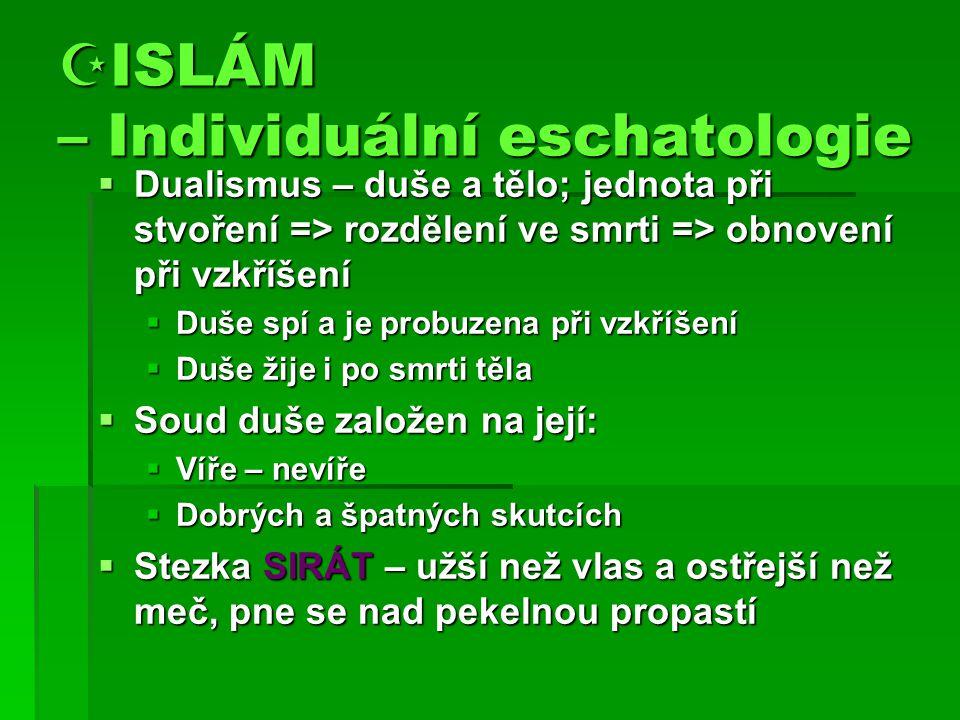ISLÁM – Individuální eschatologie