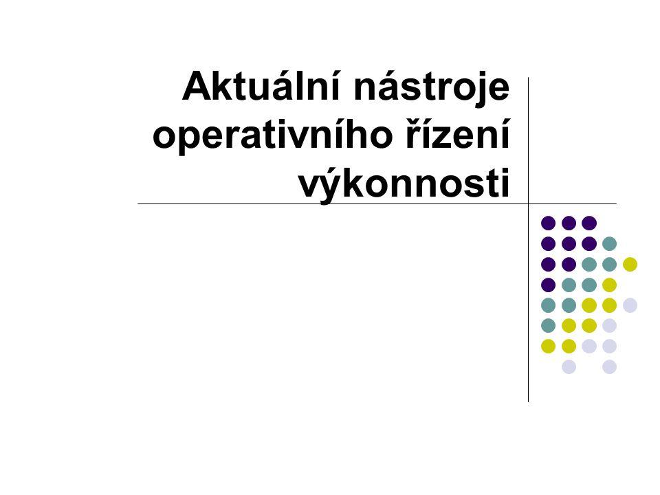 Aktuální nástroje operativního řízení výkonnosti