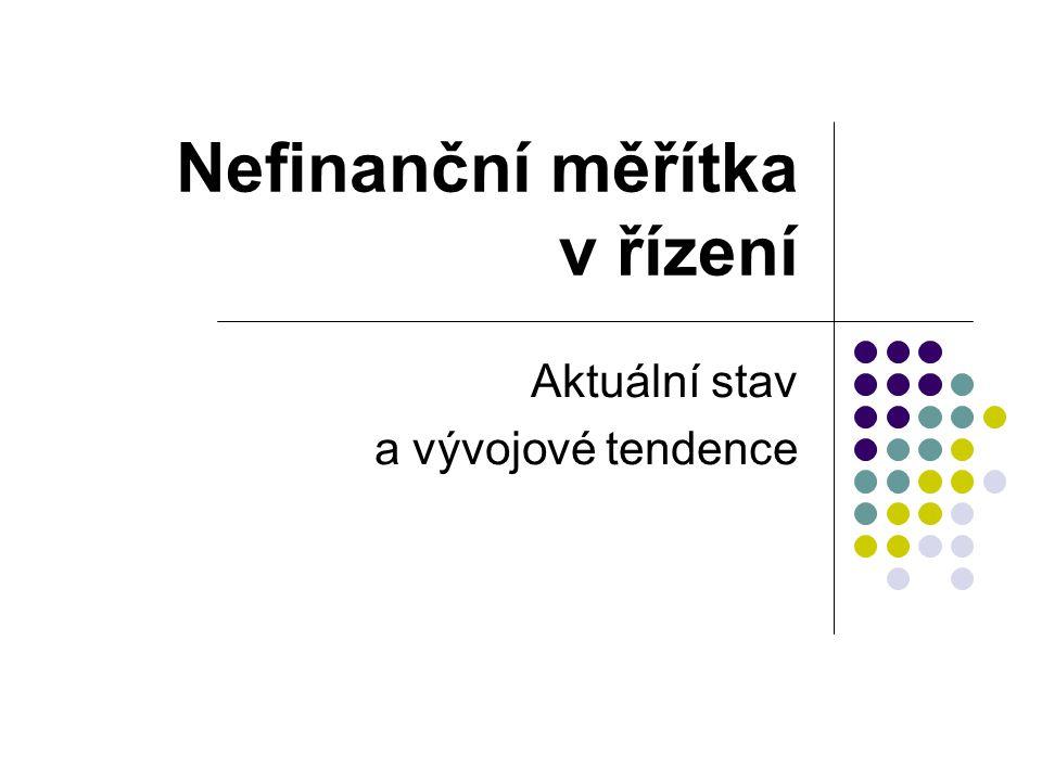 Nefinanční měřítka v řízení