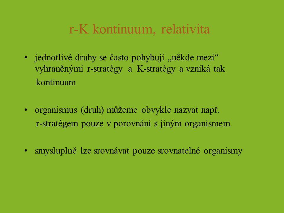 r-K kontinuum, relativita