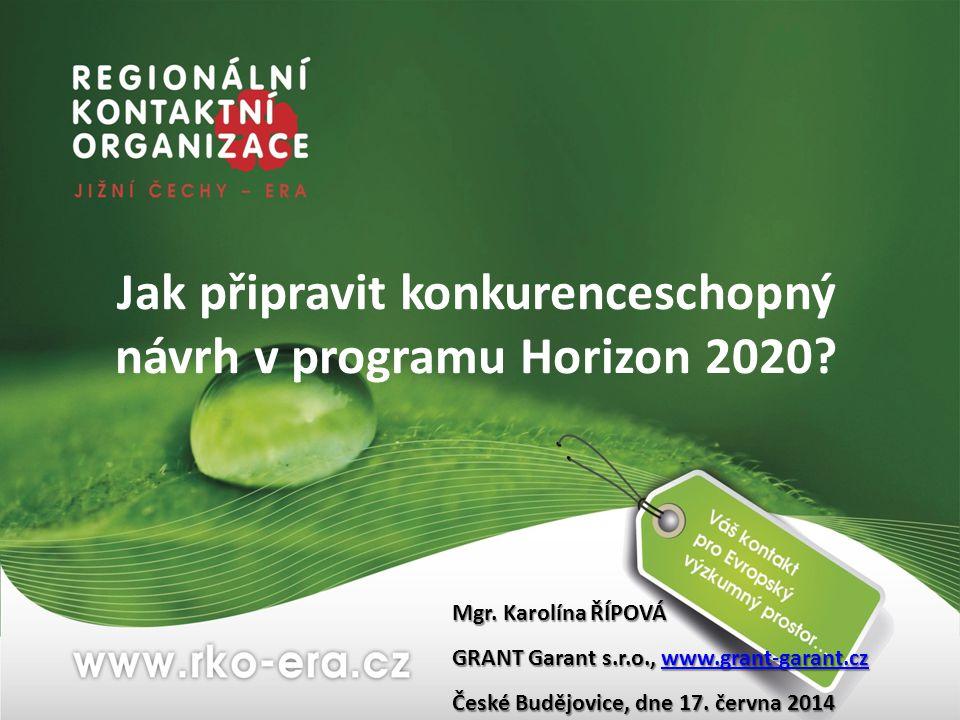 Jak připravit konkurenceschopný návrh v programu Horizon 2020