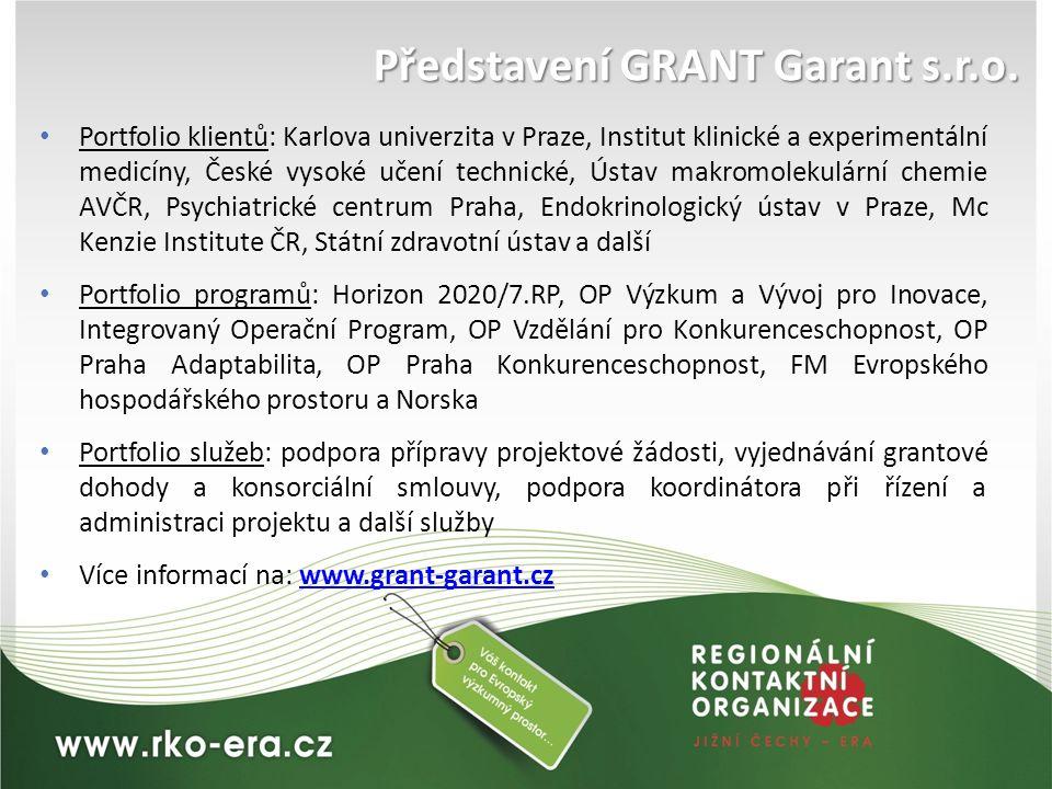 Představení GRANT Garant s.r.o.