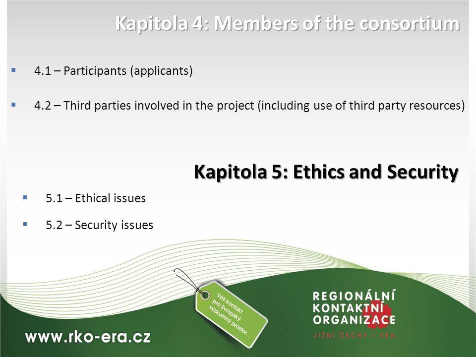 Kapitola 4: Members of the consortium