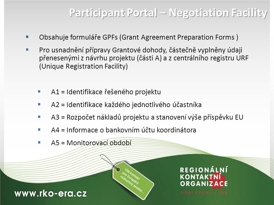 Participant Portal – Negotiation Facility