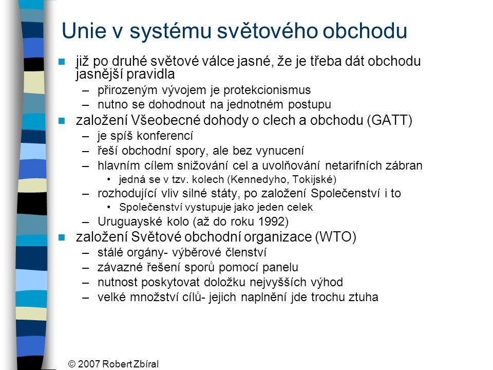 Unie v systému světového obchodu