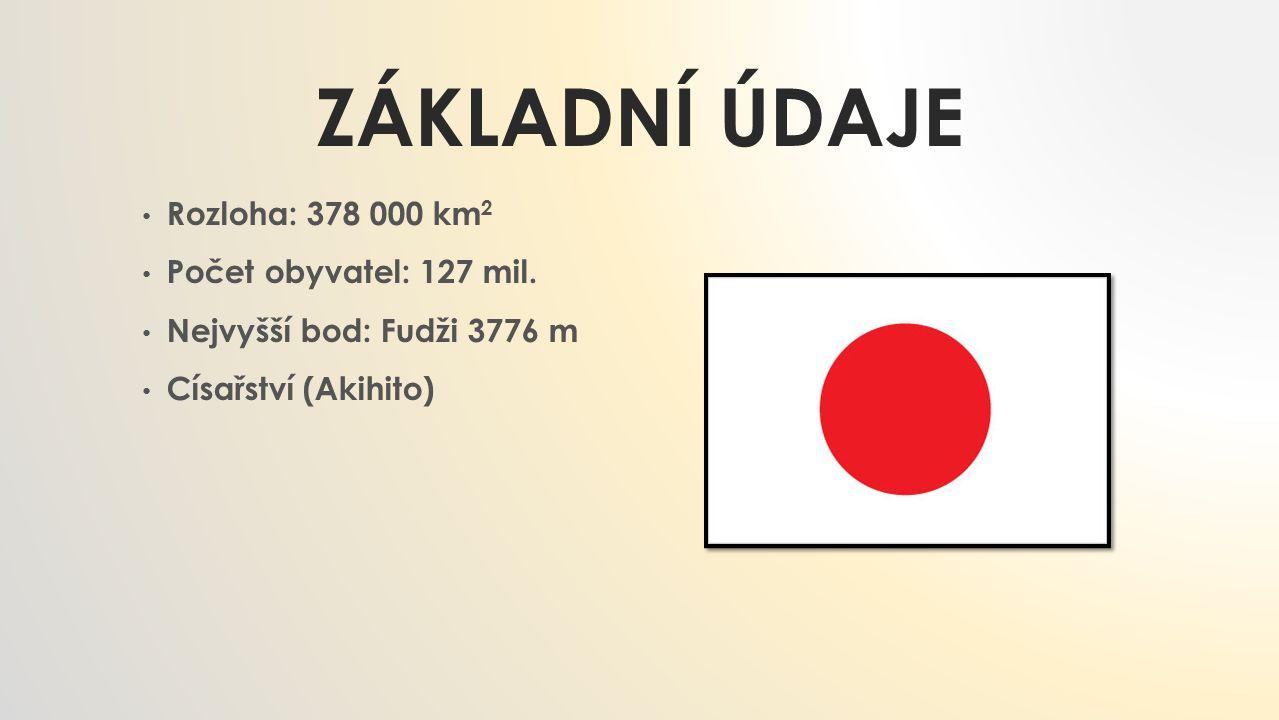 základní údaje Rozloha: 378 000 km2 Počet obyvatel: 127 mil.