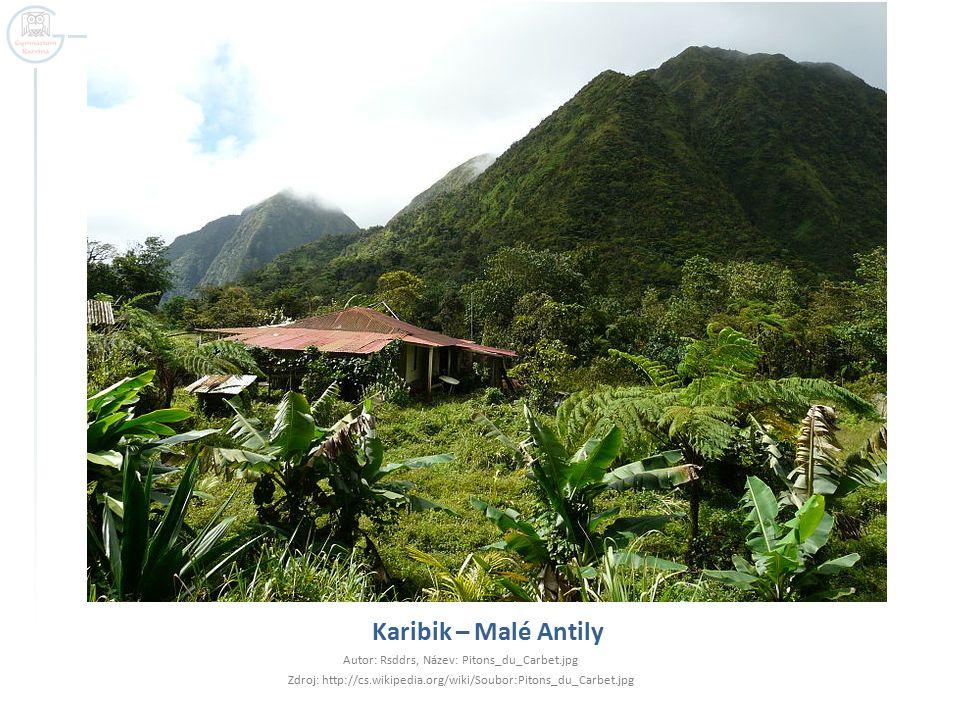 Karibik – Malé Antily Autor: Rsddrs, Název: Pitons_du_Carbet.jpg