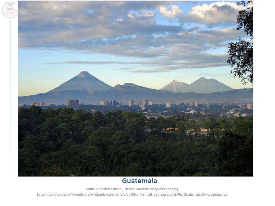 Autor: Alphabet Citizen,, Název: Guatemalacityvolcanoes.jpg