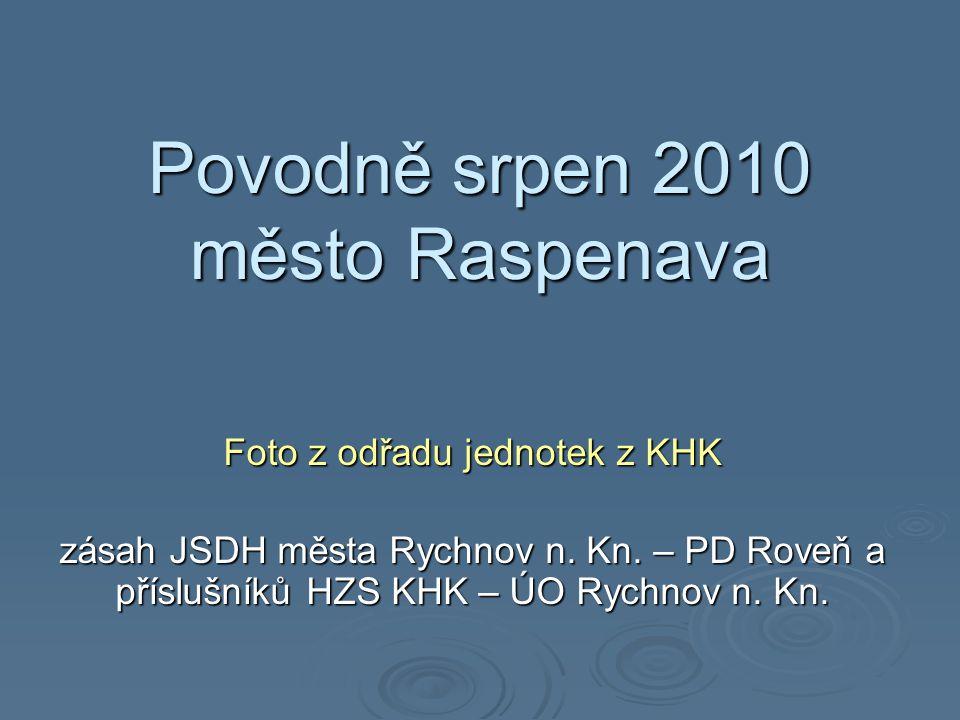 Povodně srpen 2010 město Raspenava