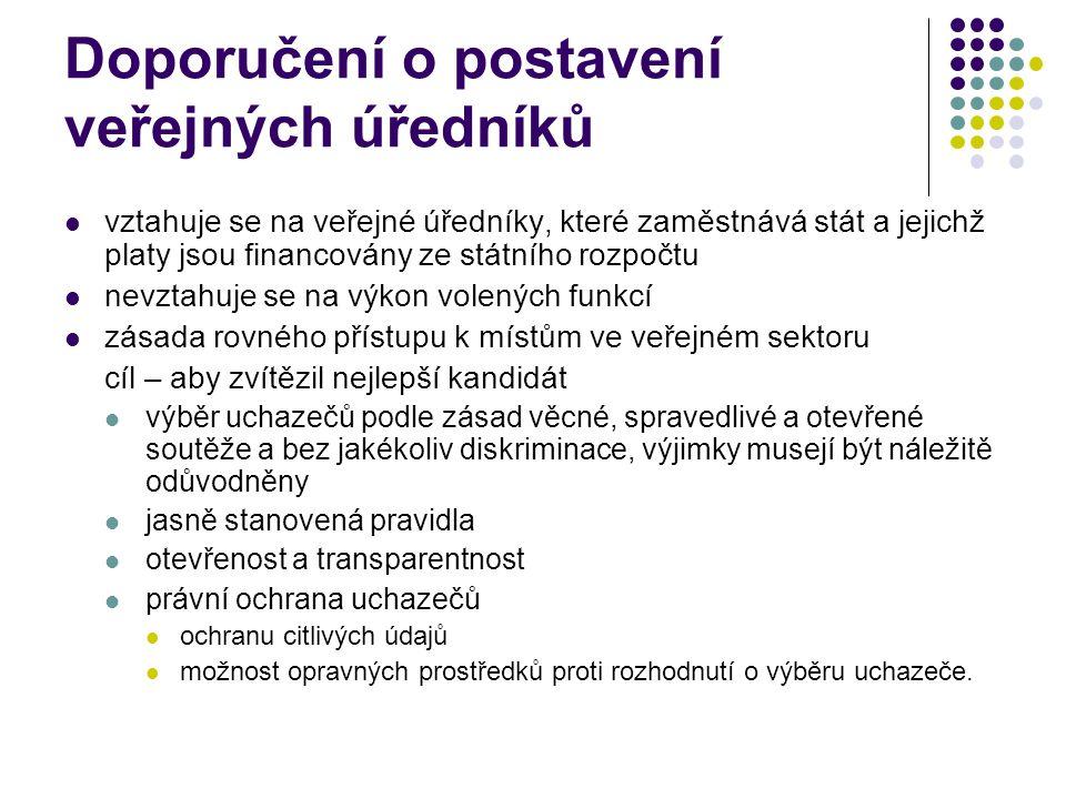 Doporučení o postavení veřejných úředníků