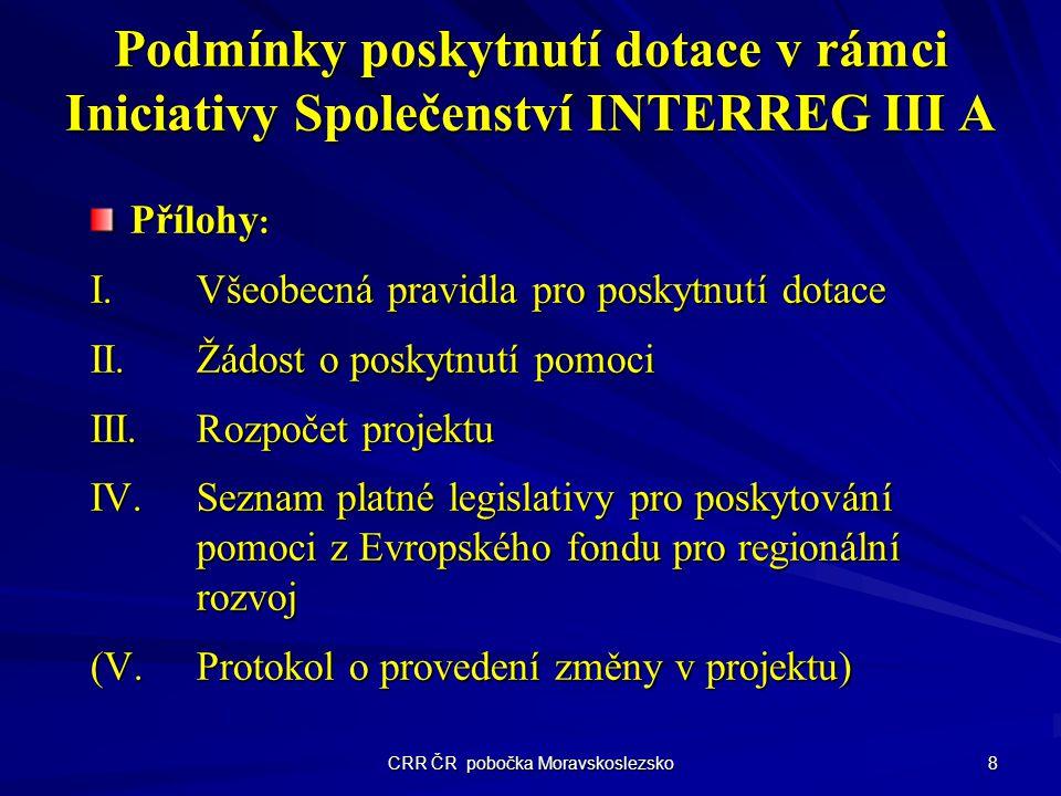 CRR ČR pobočka Moravskoslezsko