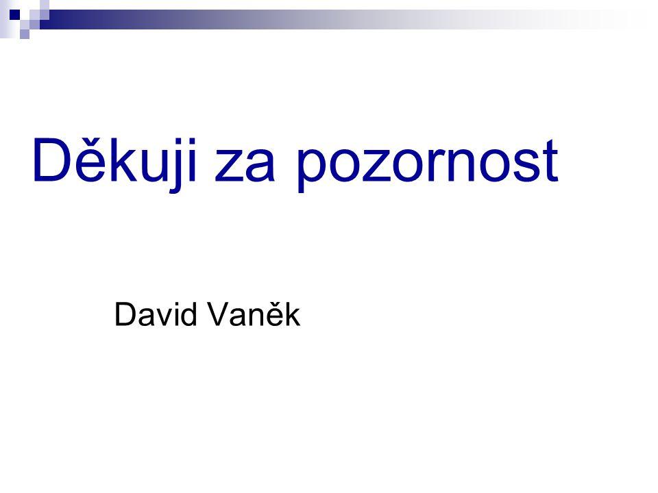 Děkuji za pozornost David Vaněk