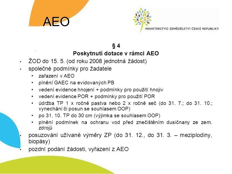 Poskytnutí dotace v rámci AEO