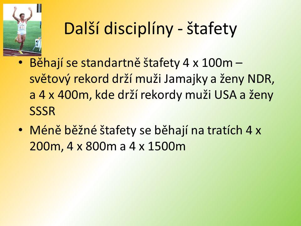 Další disciplíny - štafety