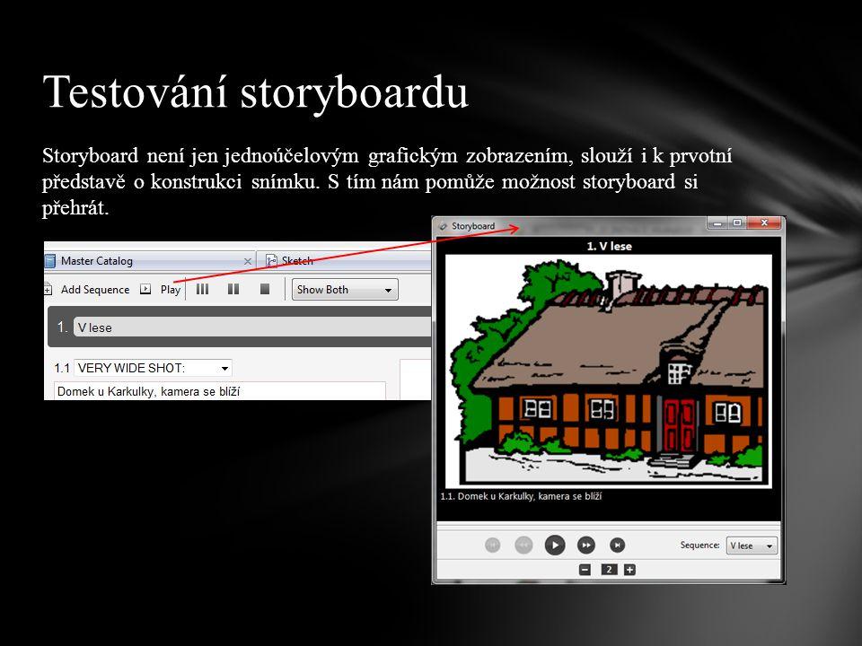 Testování storyboardu