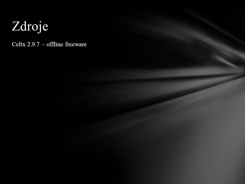 Zdroje Celtx 2.9.7 – offline freeware
