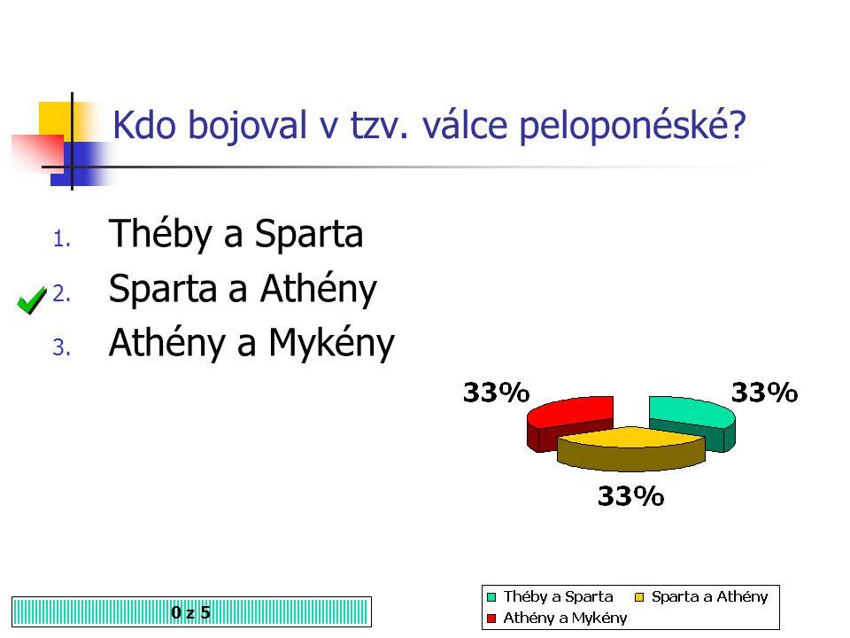 Kdo bojoval v tzv. válce peloponéské