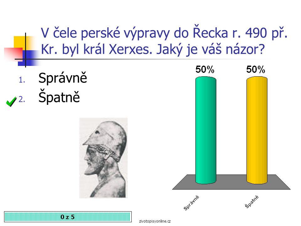 V čele perské výpravy do Řecka r. 490 př. Kr. byl král Xerxes