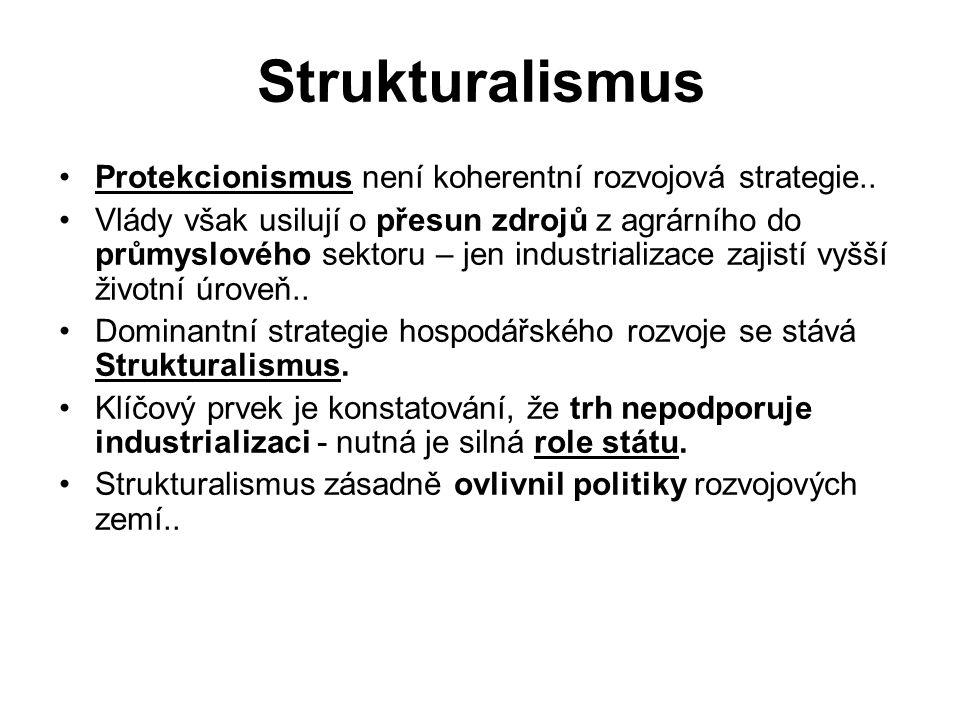 Strukturalismus Protekcionismus není koherentní rozvojová strategie..