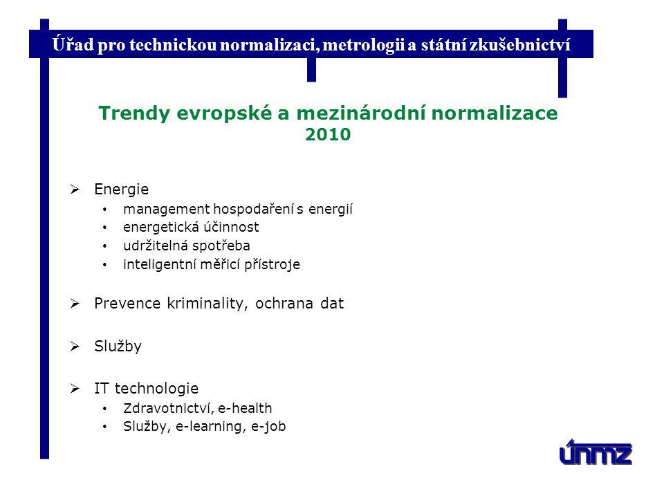 Trendy evropské a mezinárodní normalizace 2010