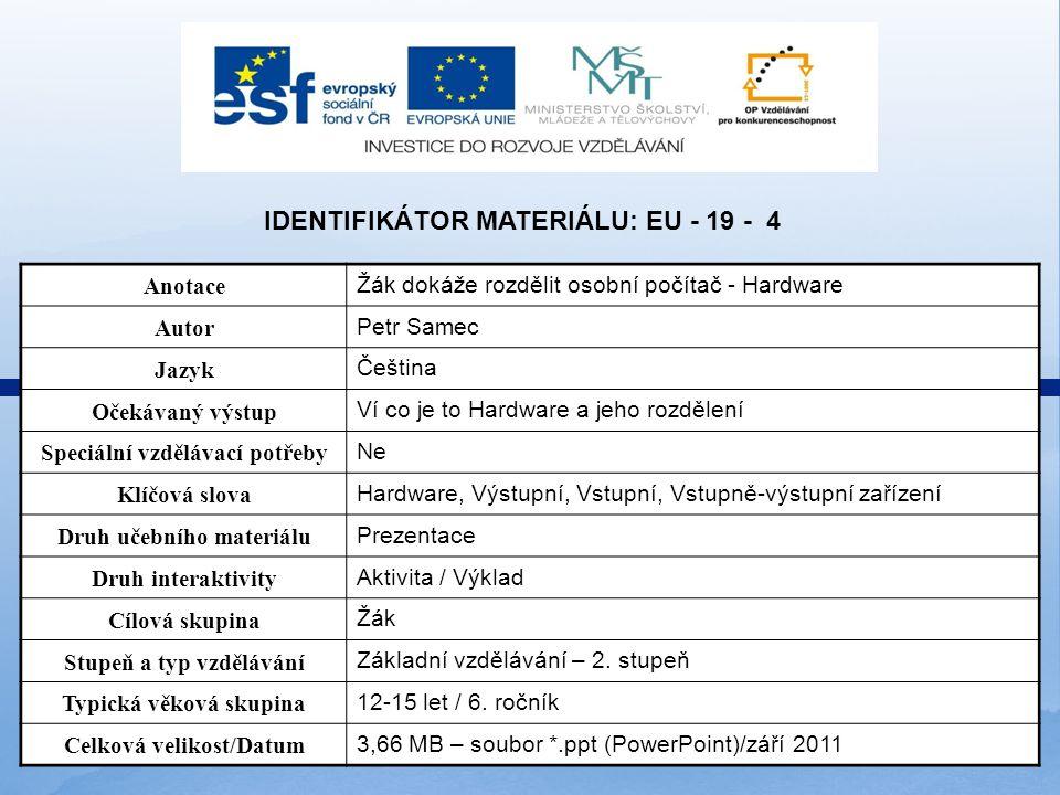 Identifikátor materiálu: EU - 19 - 4