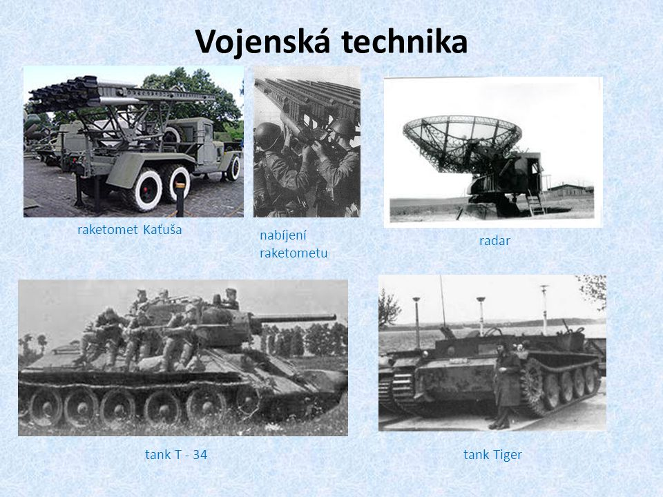 Vojenská technika raketomet Kaťuša nabíjení raketometu radar