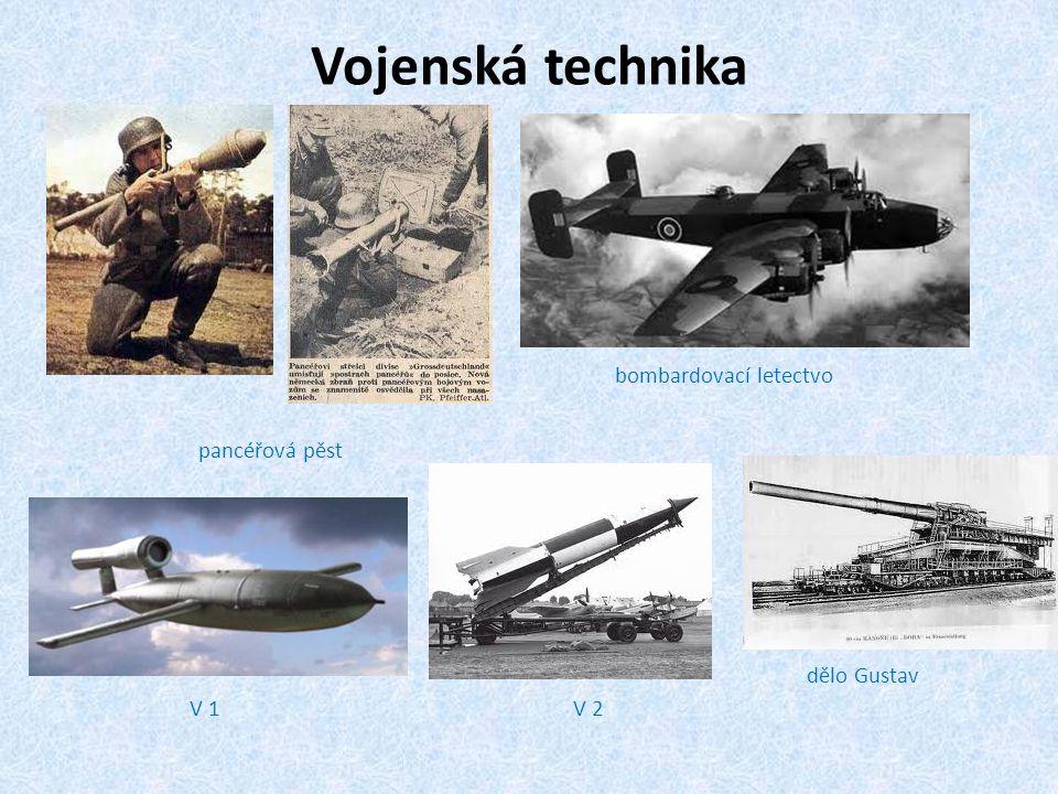 Vojenská technika bombardovací letectvo pancéřová pěst dělo Gustav V 1